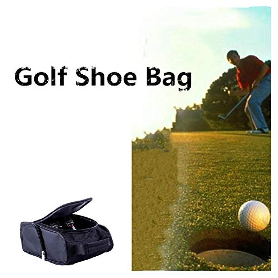 時期尚早強度標高DishyKooker ゴルフシューズバッグ ポケット ジッパー式の靴キャリアバッグ