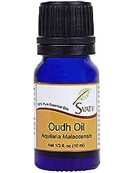 SVATV OUDH (AQUILARIA MALACCENSIS) Essential Oil 10 mL (1/3 oz) Therapeutic Grade Aromatherapy Essential Oil