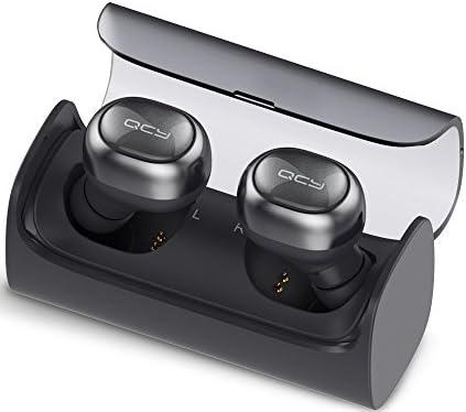 QCY Q29 Bluetooth 4.1ワイヤレスイヤホン 左右分離型 (スペースグレイ)