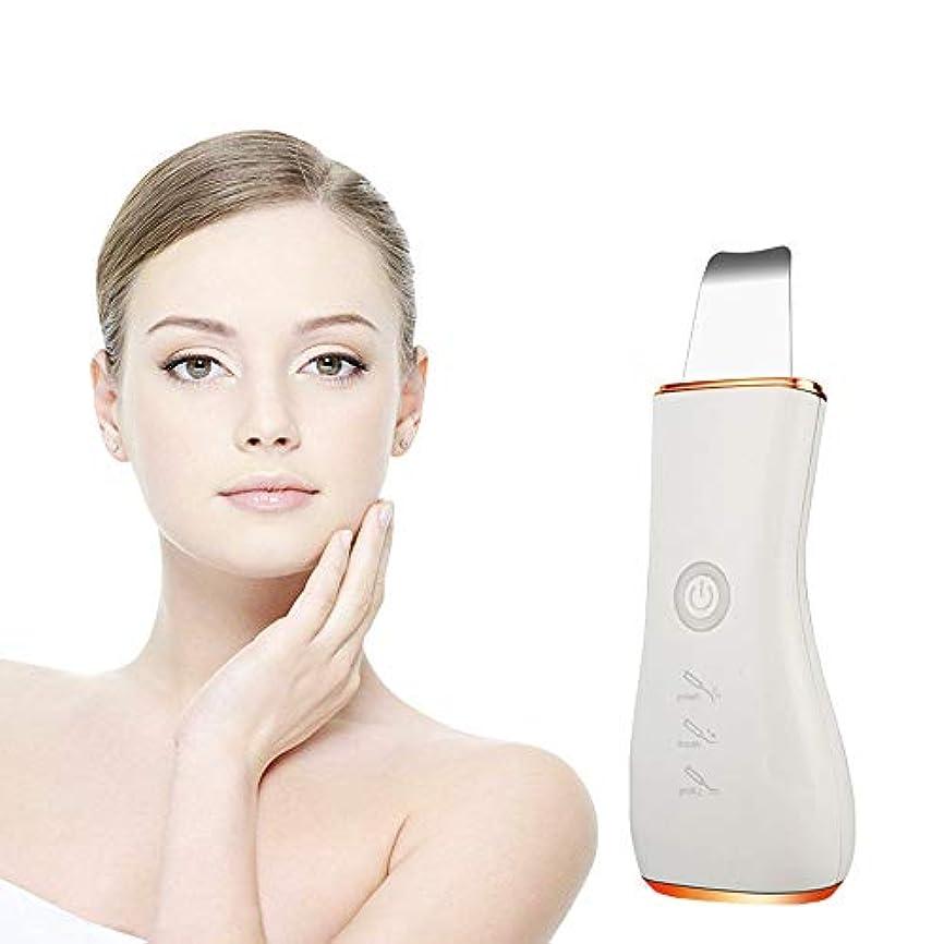 毒性故意の設置美顔術の皮のスクラバー、超音波深い表面クリーニング機械は汚れのしみを取除きますしわおよび点を減らす美顔術の白くなること,Gold