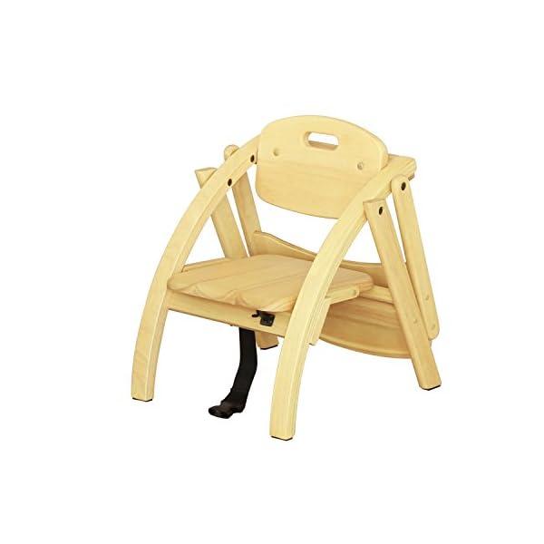 大和屋 アーチ木製ローチェア N ライトブラウ...の紹介画像4