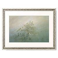 カスパー・ダーヴィト・フリードリヒ Caspar David Friedrich 「Foggy Morning in the Mountains.」 額装アート作品