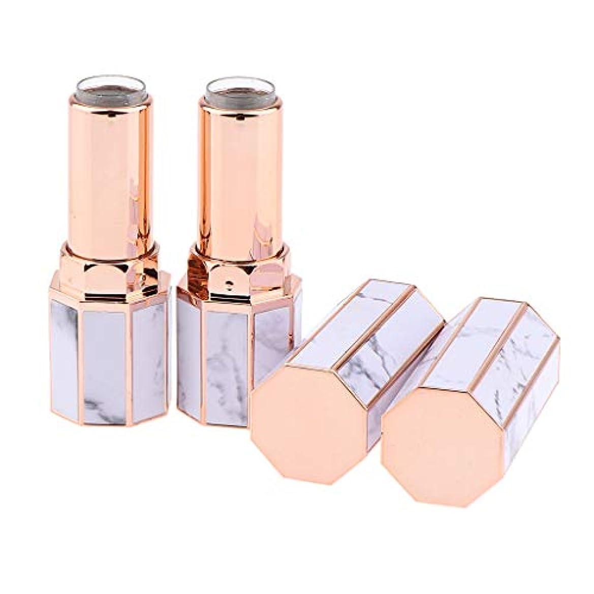 宝最初は逃げる2個の空の口紅容器リップクリームチューブ高品位手作りDIY化粧ボトル - 大理石