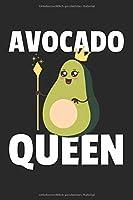 Avocado Queen Notizbuch: Avocado Queen Notizbuch / Notizheft / Notizblock A5 (6x9in) Dotted Notebook / Punkteraster / 120 gepunktete Seiten