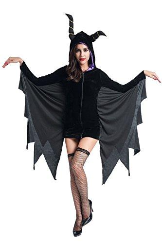 Honeystore ハロウィン 仮装 魔女 マレフィセント コウモリ 衣装 大人 レディース コスプレ コスチューム かわいい