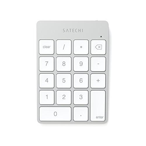 Satechi スリム 充電式 アルミ二ウム Bluetooth ワイヤレス テンキー (シルバー)