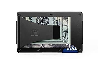 [ザ リッジ] the RIDGE【国内正規品】スマートフォンよりも薄い財布 チタニウム マネークリップ ブラック