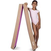 Hazli 8フィート 折りたたみ式体操バランスビーム ホーム練習用 - 体操用折りたたみバランスビーム - 使いやすくバランスビーム 子供用 - 柔らかくて丈夫なジム用具