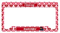 Carolines Treasures LH9163LPF 12 x 6 in. Brussels Griffon Valentines Love and Hearts License Plate Frame