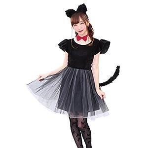 クリアストーン プティシャノワール 猫 黒猫 キャット コスプレ ハロウィン レディース