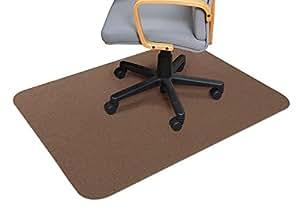 サンコー(三つ葉) 床保護マット・チェアマット BR(ブラウン) 120×90cm(厚み0.4cm)