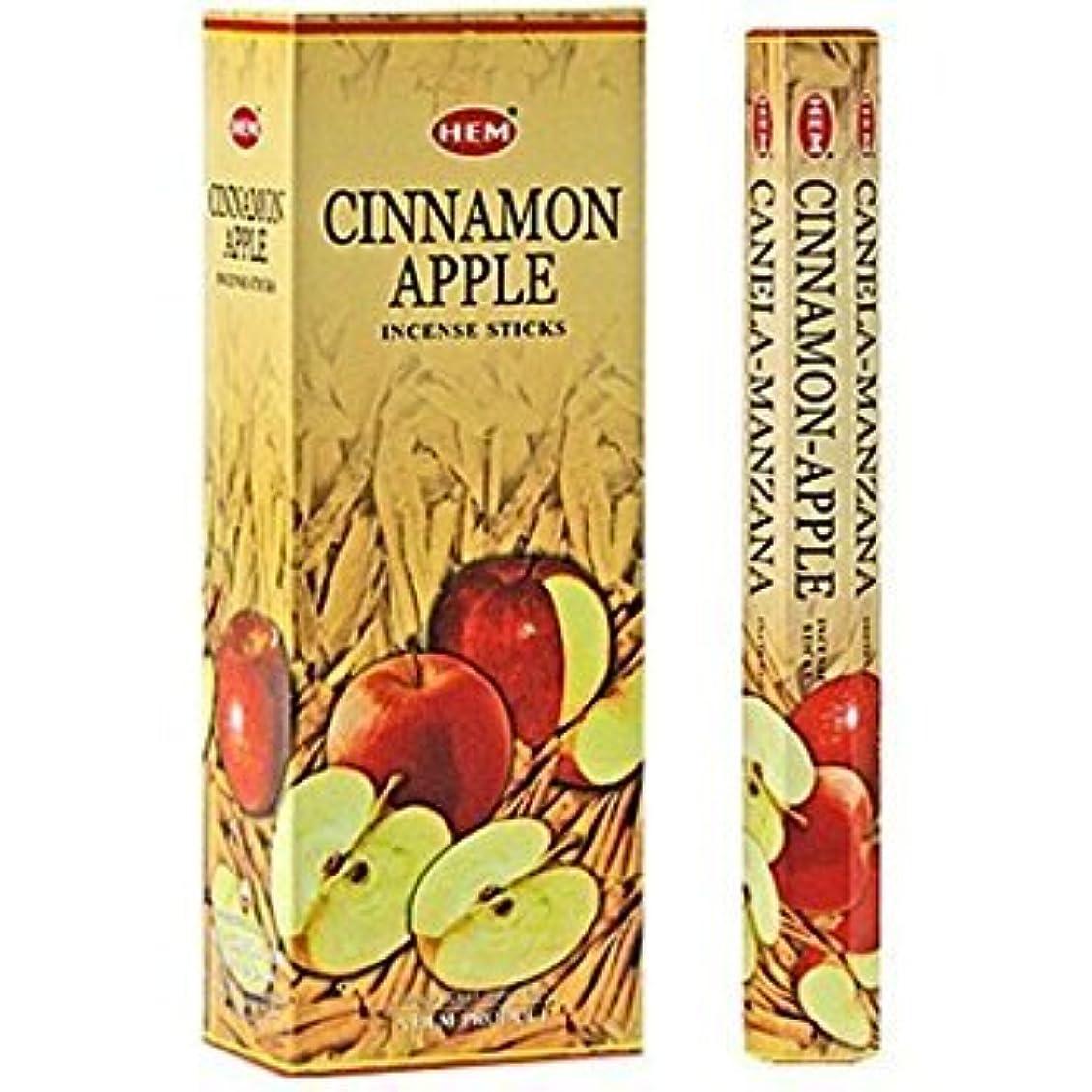 仕事テロリストパイCinnamon Apple - Box of Six 20 Stick Tubes - HEM Incense