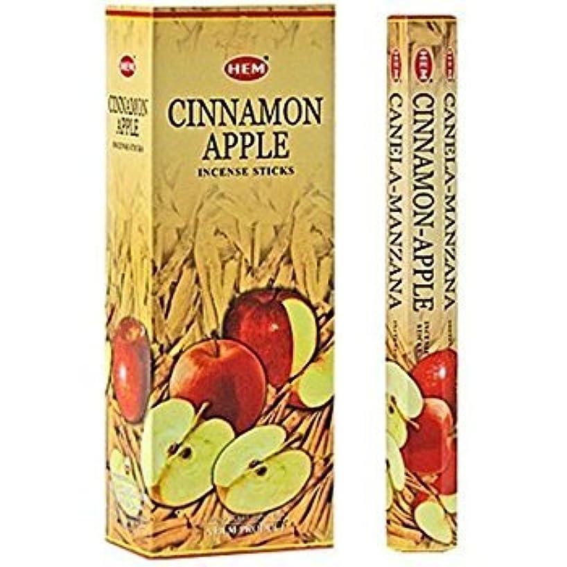 違法ピラミッドスリラーCinnamon Apple - Box of Six 20 Stick Tubes - HEM Incense
