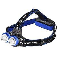 HSBAIS こども 登山に対してUSB 充電式 ヘッドライト LED、ズーム機能 高輝度 ヘッドランプ 防水 軽量 ヘルメットライト 両手が自由,black