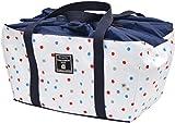 MARIO 保冷バッグ tote de cool エコレジ マルチドット ホワイト M-12372