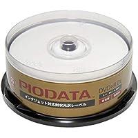 PIODATA DVD+R DL 8.5GB 台湾製 8倍 ワイドプリンタブル ウォータープルーフ 808-C03 25枚