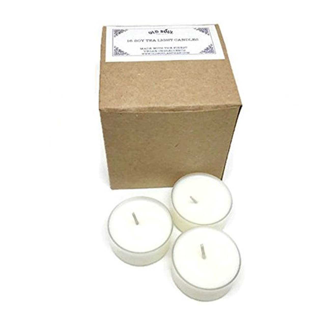 美人難しい話をするVanilla Scented Vegan Soy Tea Light Candles - 16 Box Set [並行輸入品]