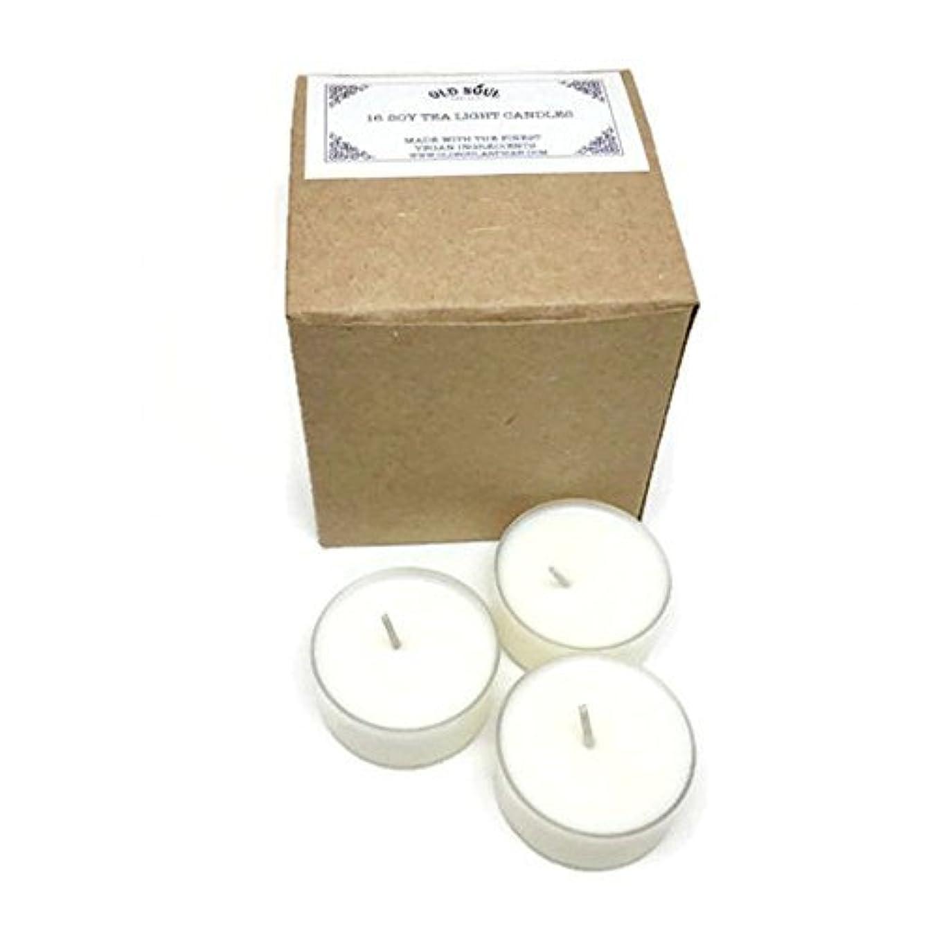 気づかない宝破裂Vanilla Scented Vegan Soy Tea Light Candles - 16 Box Set [並行輸入品]