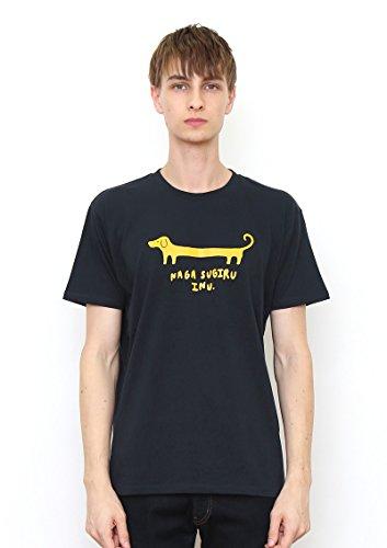 (グラニフ) graniph ベーシックTシャツ/ナガスギルイヌ (ネイビー) L