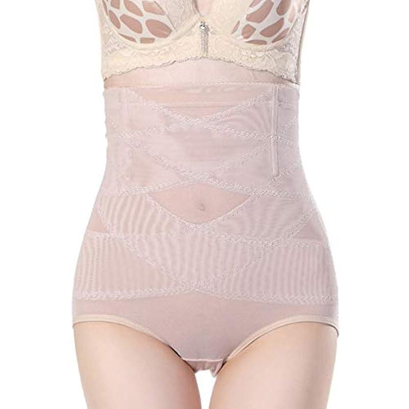 敬礼購入責任腹部制御下着シームレスおなかコントロールパンティーバットリフターボディシェイパーを痩身通気性のハイウエストの女性 - 肌色3 XL