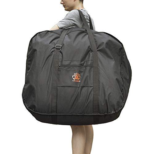 折り畳み自転車 収納袋 輪行バッグ 14~20インチ対応 専用ケース付き 輪行袋 車載・飛行機・航空輸送向き 持ち運び 便利 耐用 大きい収納袋 ブラック