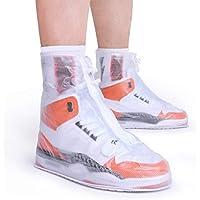 ARUNNERS Rain Shoe Covers for Women (White, XL)