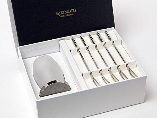 MIKIMOTO ミキモトインターナショナル カトラリーポット&フルーツフォーク5本セット