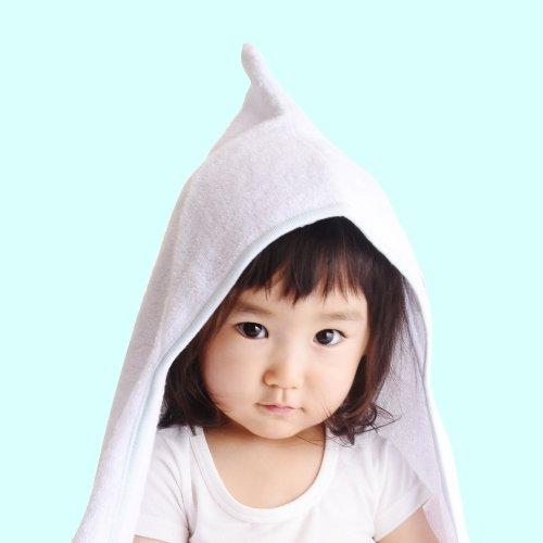 angerolux アンジェロラックス whip cream hooded bath towel とんがりフード付きバスタオル 【今治製】 Blue ブルー