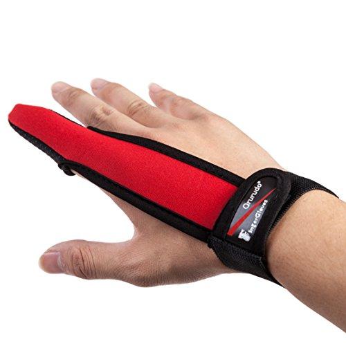 【オルルド釣具】フィンガープロテクター < 全力キャスト時に指をガード / ラインを掴む感覚を損なわずスムーズなキャスティングが可能 / 投げ釣り・キャスティングに最適> 1本指 指サック 手袋 レッド qb500075a03n0