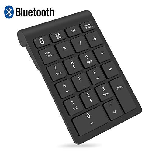 Bluetooth テンキーボード ワイヤレス テンキーパッド 無線 数字キーボード 人間工学設計 1000万回高耐久 22キー 持ち運び便利 コンパクト 小型 極薄型 Android/WIN/IOS 対応