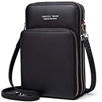 Wukong Womens Small Crossbody Cell Phone Purse Shoulder Bag Wallet with Credit Card Slots