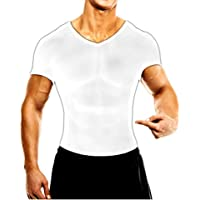 MuscleMan 加圧シャツ メンズインナー 白L