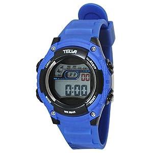 [クレファー]CREPHA 腕時計 デジタル ウレタンベルト 5気圧 防水 ブルー TE-D068-BL ボーイズ