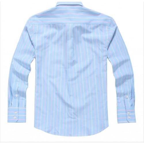 U-SHARKワイシャツ Yシャツ メンズ 長袖 ドレスシャツ ボタンダウン クールビズ スリム カジュアル オックスフォード ノーアイロン (42, 1スカイブルー)