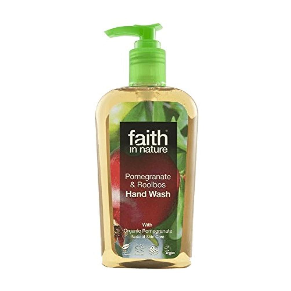 チャップ脱走しゃがむ自然ザクロ&ルイボス手洗いの300ミリリットルの信仰 - Faith In Nature Pomegranate & Rooibos Handwash 300ml (Faith in Nature) [並行輸入品]