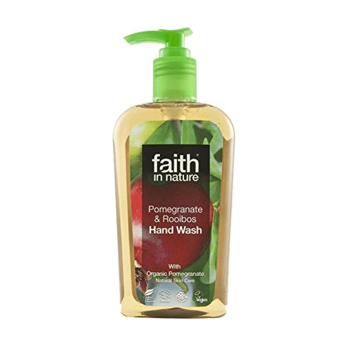 習字くるみ溶融Faith In Nature Pomegranate & Rooibos Handwash 300ml (Pack of 2) - 自然ザクロ&ルイボス手洗いの300ミリリットルの信仰 (x2) [並行輸入品]