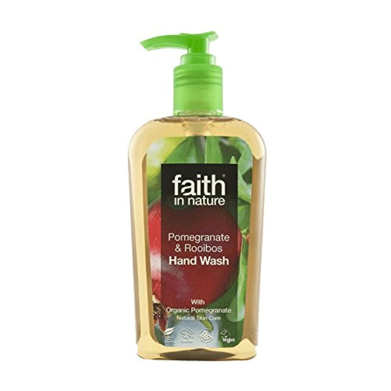 打ち上げるバランスのとれた隣接Faith In Nature Pomegranate & Rooibos Handwash 300ml (Pack of 6) - 自然ザクロ&ルイボス手洗いの300ミリリットルの信仰 (x6) [並行輸入品]