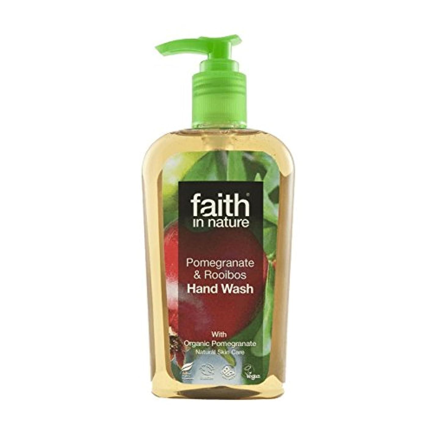阻害する好戦的なまたはFaith In Nature Pomegranate & Rooibos Handwash 300ml (Pack of 6) - 自然ザクロ&ルイボス手洗いの300ミリリットルの信仰 (x6) [並行輸入品]