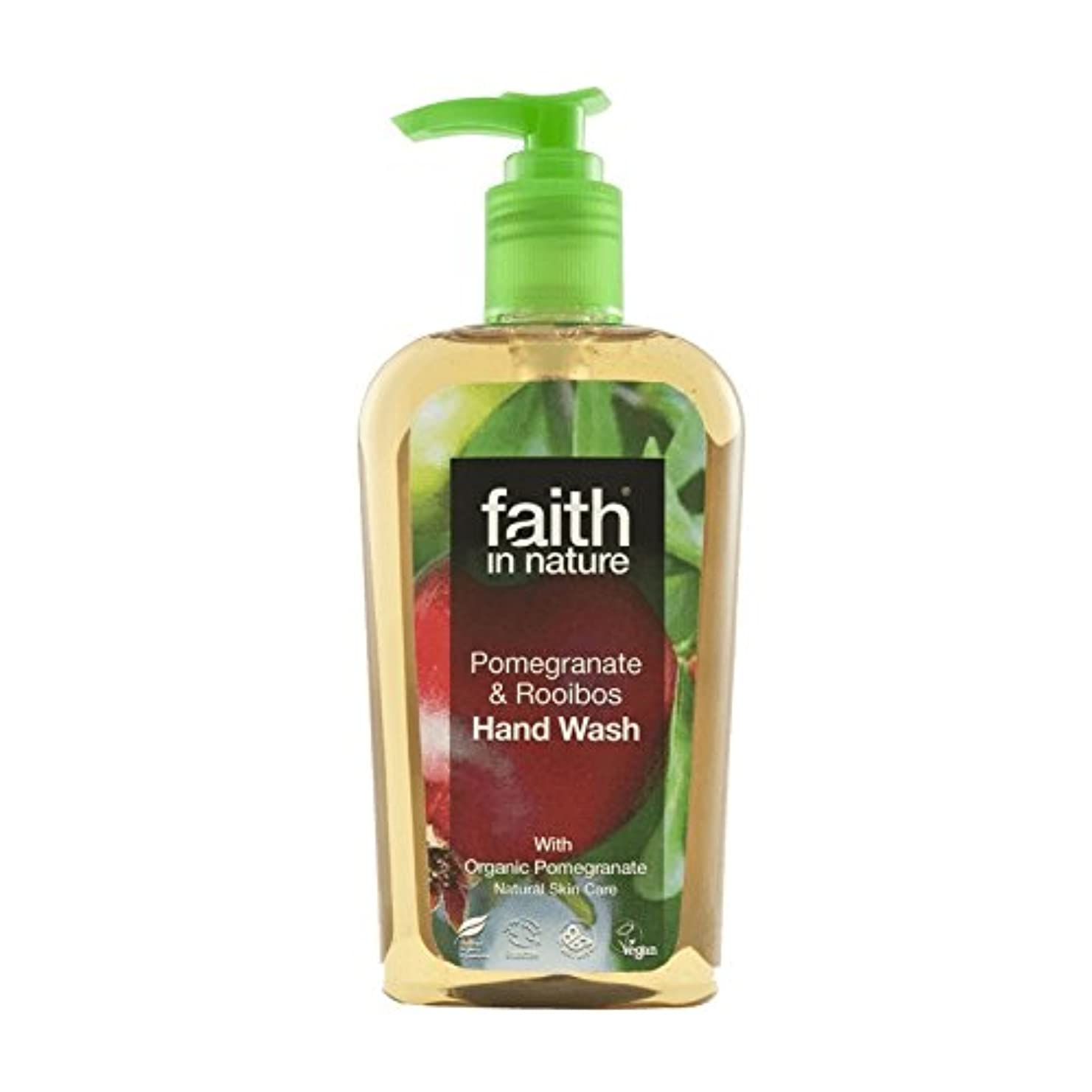 カード不安葉を集める自然ザクロ&ルイボス手洗いの300ミリリットルの信仰 - Faith In Nature Pomegranate & Rooibos Handwash 300ml (Faith in Nature) [並行輸入品]
