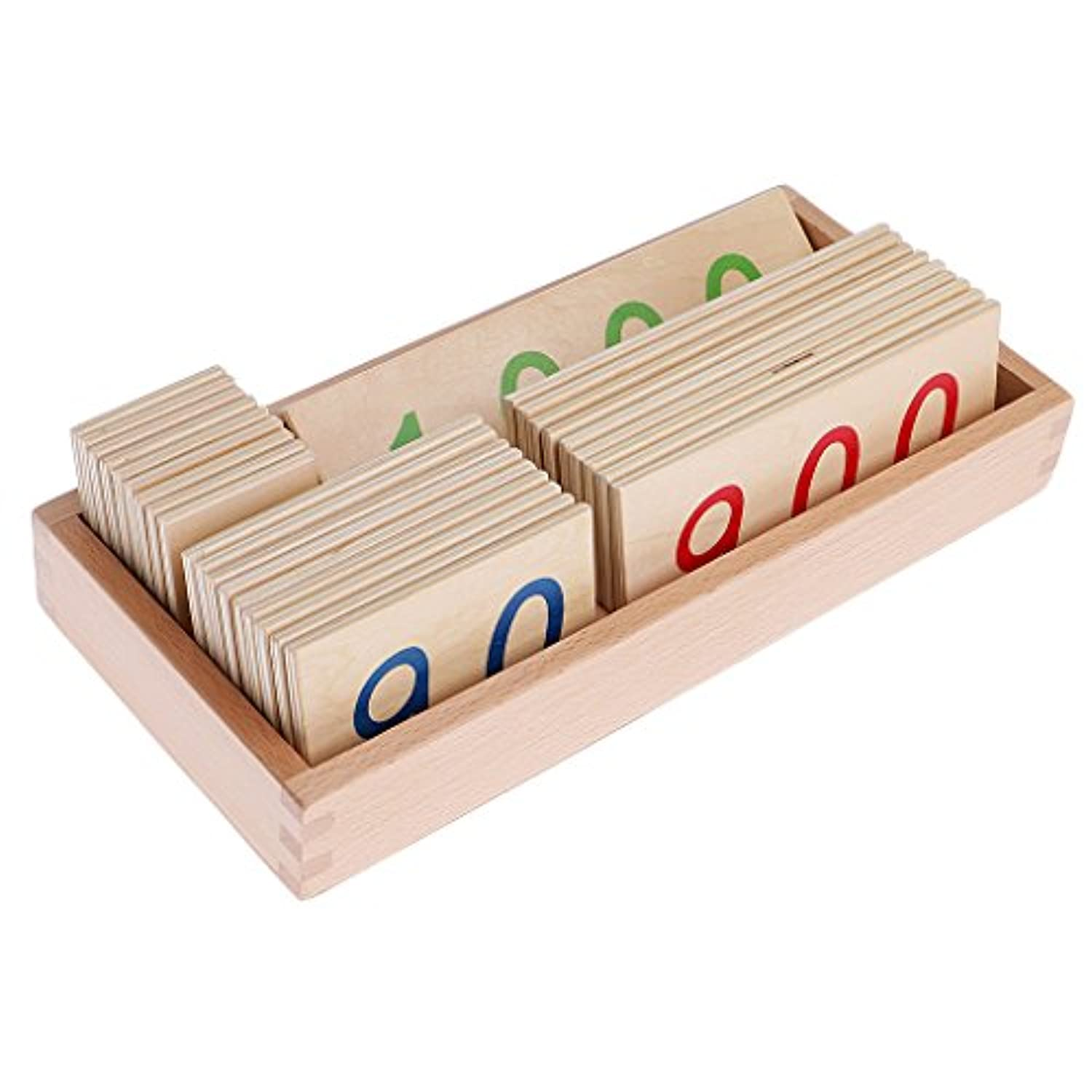 MagiDeal Durable Montessori Mathematics Wooden Counting Number Cards (1-3000) Small for Math Learning Enlightment