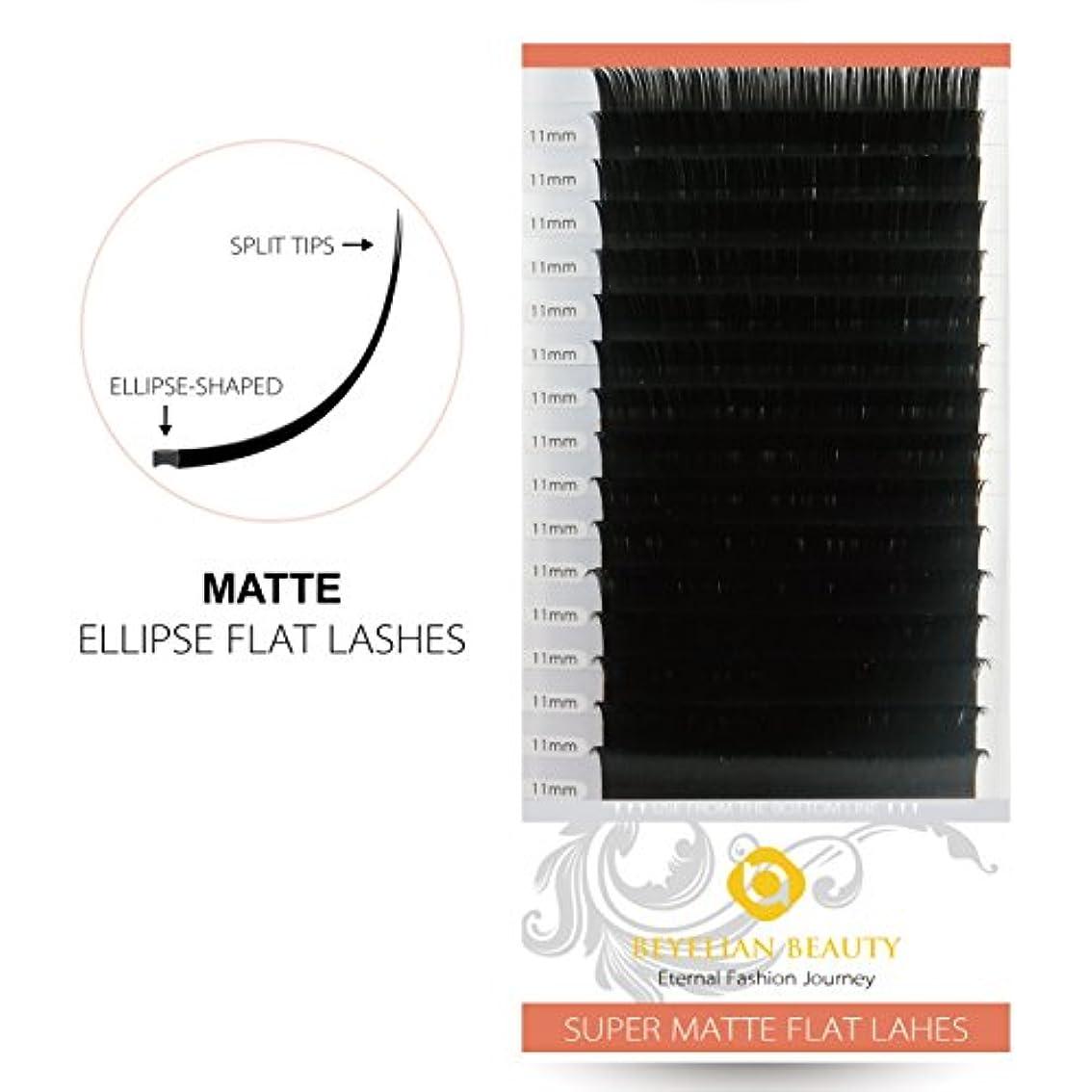 アデレードレザーグレートオークBEYELIAN 楕円まつげエクステ 太さ0.15㎜ 長さ11㎜Cカールまつ毛エクステンション 専門的なサロン用マツエク12列