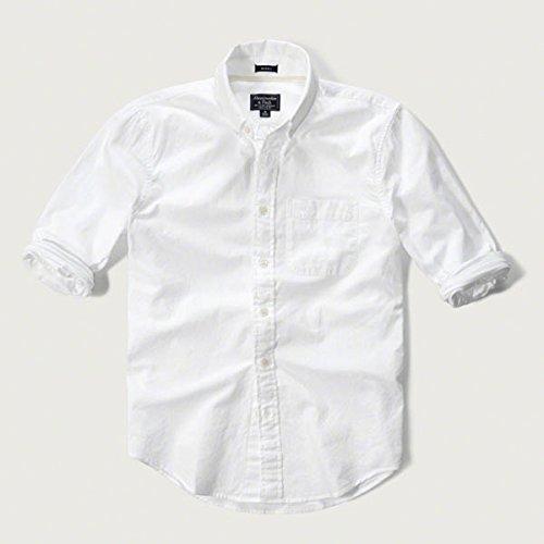 (アバクロンビー & フィッチ) Abercrombie & Fitch オックスフォードシャツ Iconic Oxford Shirt - White S [並行輸入品]