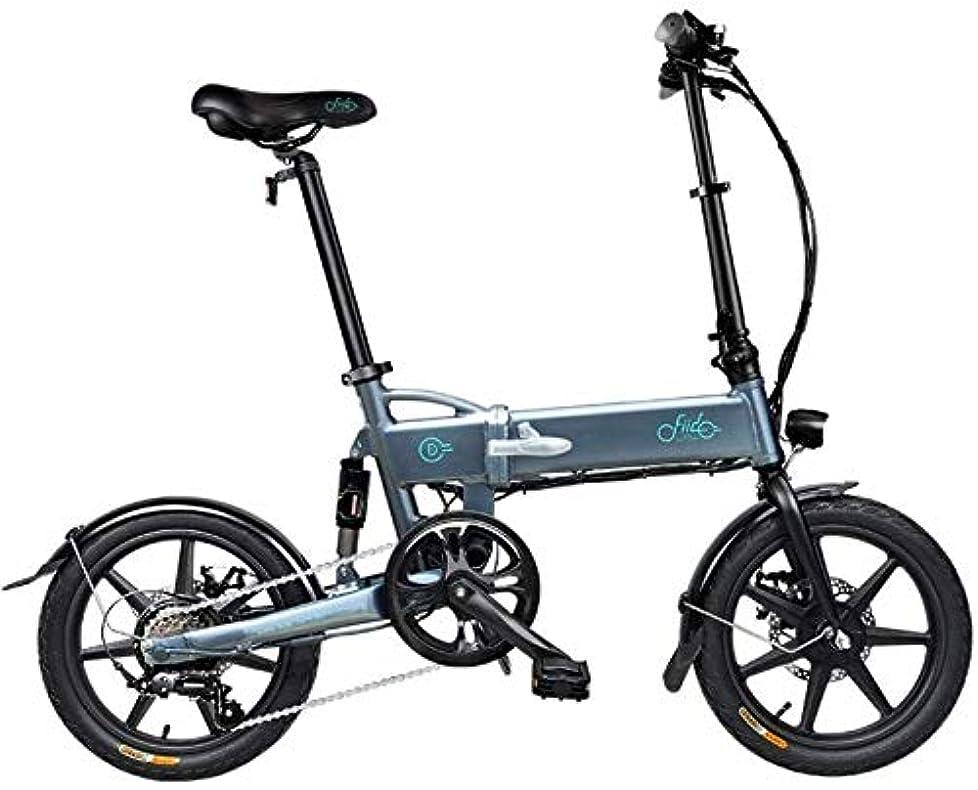 独立世界ライターPARTAS 観光/通勤ツール - 電動自転車、ライト折りたたみ、36V / 250ワット電動自転車、大人の男性と女性のための適切な最高速度毎時25キロ、 (Color : 6 speed 16 inch 7.8Ah gray)