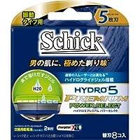 (まとめ)シック(Schick) ハイドロ5プレミアムパワーセレクト替刃(8コ入) 【×6点セット】