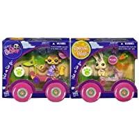 Littlest Pet Shop (リトルペットショップ) Pets on the Go Two-Pack ~ #1843 Monkey with Race Car and #1845 Bunny with Scooter(並行輸入)