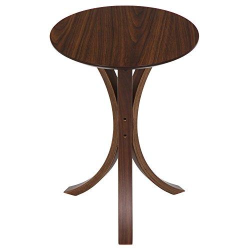不二貿易 サイドテーブル 直径40×高さ54cm ダークブラウン 11042