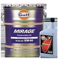 ガルフ【Gulf】 エンジンオイル MIRAGE 10W-60 1L X 6本セット 100%合成
