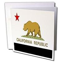 フローレン状態フラグ–カリフォルニア州の状態フラグ–グリーティングカード Set of 6 Greeting Cards
