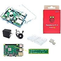 Raspberry Pi 3 Model B+ パワースターターセット (RP3+基板, Case, ヒートシンク, 2.4A電源 *PSE適合, USBスイッチケーブル)