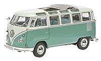 シュコー 1/18 VW T1 サンバ ベージュ/ターコイズ 完成品